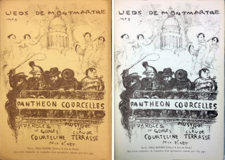 リトグラフ Bonnard - PANTHÉON - COURCELLES, avec une couverture de Pierre Bonnard (1899)