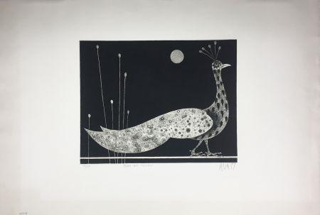 メゾチント彫法 Avati - PAON AUX ROSEAUX (1958)