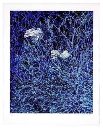 デジタル版画 Myrvold - Paper in Blue Wires