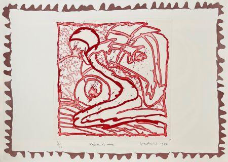 彫版 Alechinsky - Papier de mur
