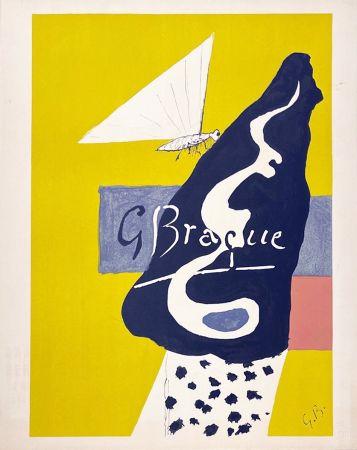 リトグラフ Braque - Papillon