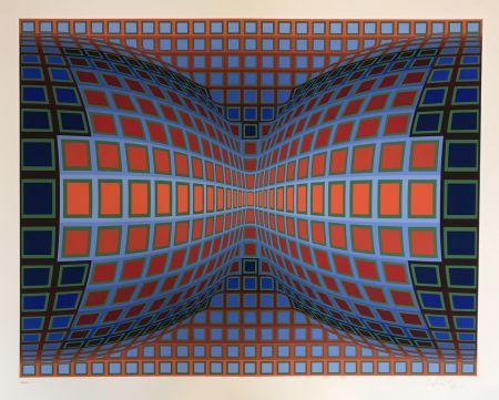 シルクスクリーン Vasarely - Papillon