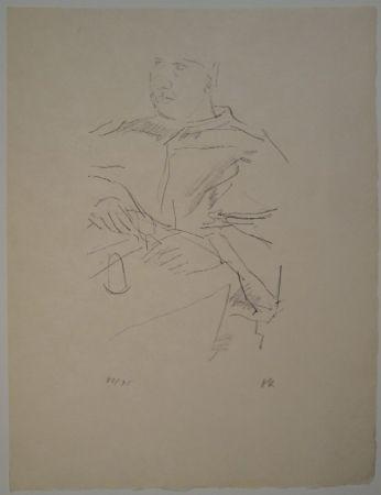リトグラフ Kokoschka - Papst Leo X