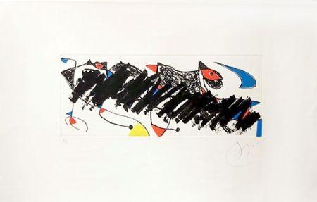 彫版 Miró - Par dessus la haie