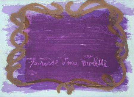 リトグラフ Messagier - Paresse d'une violette