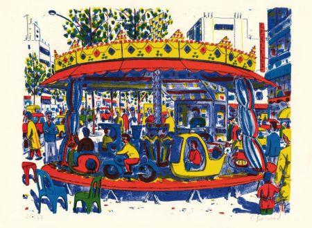 リトグラフ Boisrond - Paris-ci aussi, le manège