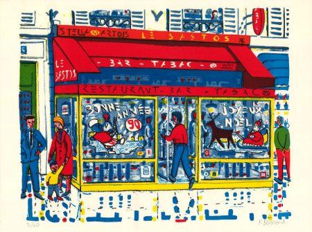 リトグラフ Boisrond - Paris-ci aussi, Le Tabac