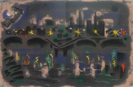 リトグラフ Masson - Paris at night