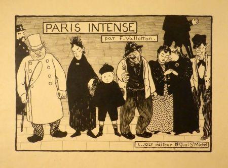 リトグラフ Vallotton - Paris intense (Frontispiz)