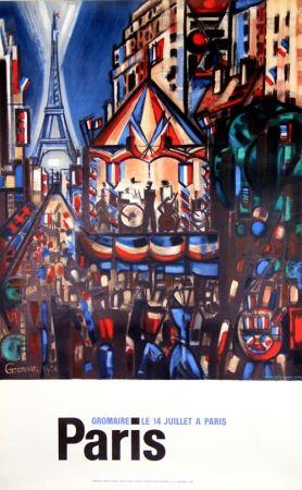 リトグラフ Gromaire - Paris le 14 Juillet