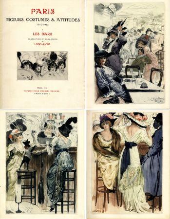 挿絵入り本 Lobel-Riche - PARIS. MŒURS, COSTUMES ET ATTITUDES, 1912-1913. LES BARS (M. Guillemot).