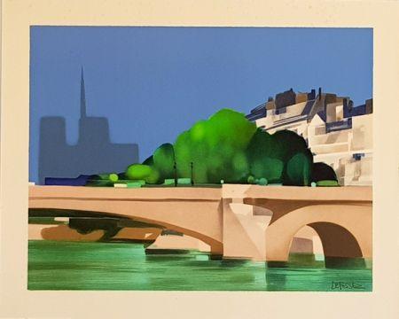 リトグラフ Defossez - Paris  Pont de la Tournelle