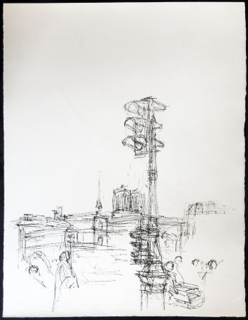 リトグラフ Giacometti - Paris Sans Fin. 75ème planche (1961). 1964. Tirage à part à 20 ex.