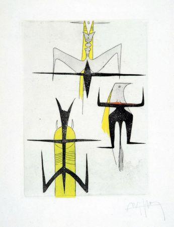 エッチングと アクチアント Lam - PAROLES PEINTES (1959) 10 gravures originales de Max Ernst, Jacques Hérold, Wifredo Lam, Sébastian Matta et DorotheaTanning. Poèmes d'Alain Bosquet.