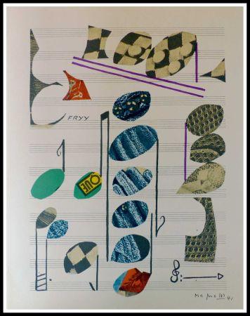 リトグラフ Magnelli - PARTITION MUSICALE