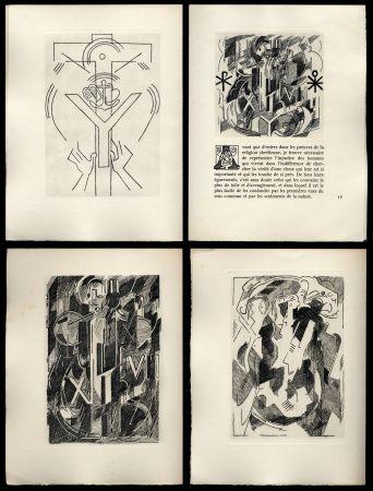 挿絵入り本 Gleizes - Pascal: PENSÉES sur l'Homme et Dieu. 57 gravures originales d'Albert Gleizes (1950).