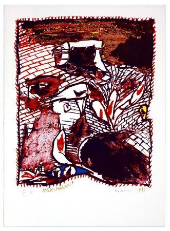 リトグラフ Alechinsky - Passe Muraille