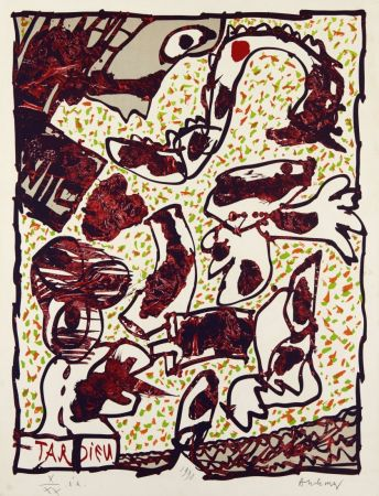 リトグラフ Alechinsky - Passe muraille (Tardieu)