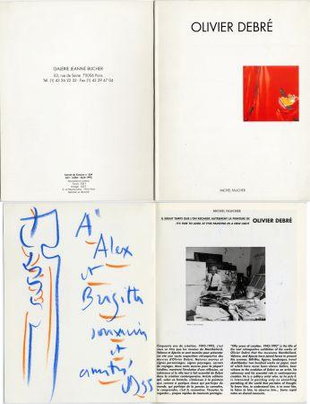 技術的なありません Debré - Pastel original sur un catalogue d'exposition (1993)