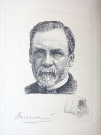 彫版 Bracquemond - Pasteur et les pastoriens.  Avec un portrait à l'eau-forte par Bracquemond