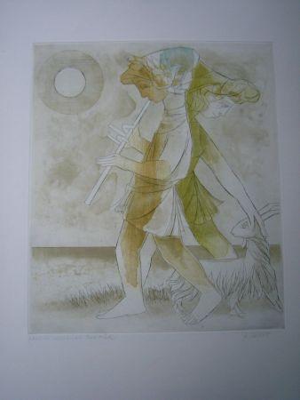 エッチングと アクチアント Finsterer - Pastoral-mediterran I