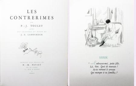 挿絵入り本 Laboureur - Paul-Jean Toulet : LES CONTRERIMES. 63 gravures originales (1930)