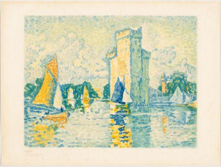 アクチアント Signac - Paul Signac, Le Port de La Rochelle. 1924. Aquatinte signée.