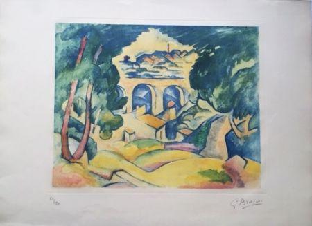 アクチアント Braque - Paysage à l'Estaque (Le Viaduc de l'Estaque)