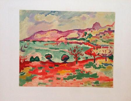 リトグラフ Braque - Paysage A L'estaque Lithographie