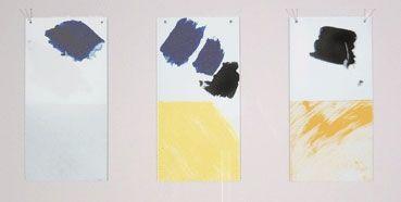 シルクスクリーン Buraglio - Paysage avec un nuage rouge/Hommage à Mondrian