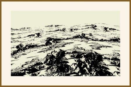 シルクスクリーン Urto - Paysage fiction