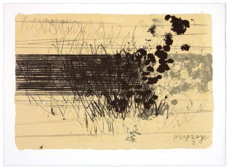 リトグラフ Denning - Paysage I
