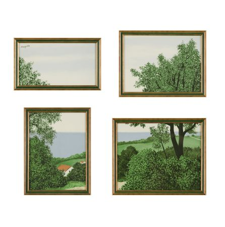 リトグラフ Magritte - Paysage Ou Profondeur De La Terre
