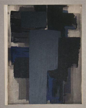 ステンシル Soulages - Peinture, 1955