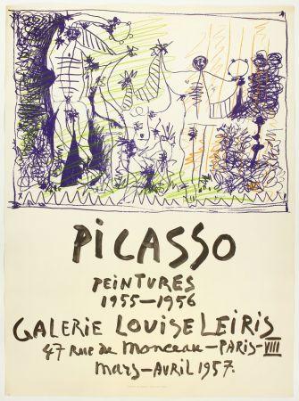 リトグラフ Picasso - Peintures 1955 - 1956 (Galerie Louise Leiris)
