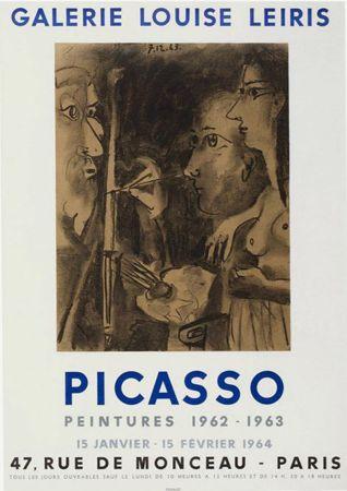 リトグラフ Picasso - '' Peintures 1962 - 1963 ''