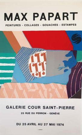 リトグラフ Papart - Peintures Collages  Gouaches  Estampes Galerie Cour St Pierre