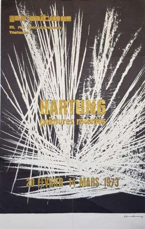 オフセット Hartung - Peintures Recentes  Exposition de Toulouse