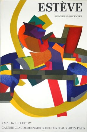 リトグラフ Esteve - Peintures REcentes Galerie Claude Bernard