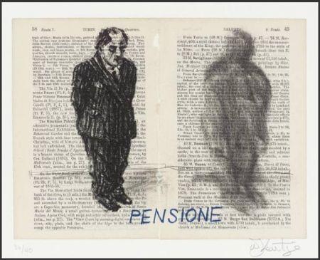 リトグラフ Kentridge - Pensione from Untitled Baedecker portfolio