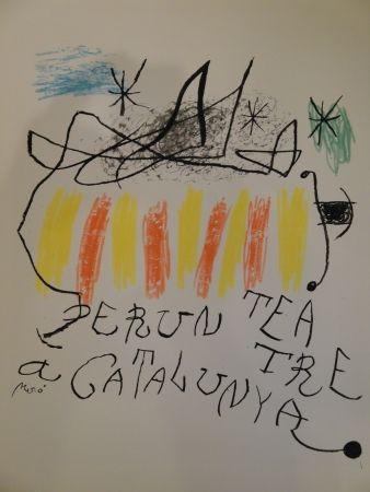 リトグラフ Miró - Per un teatre a Catalunya