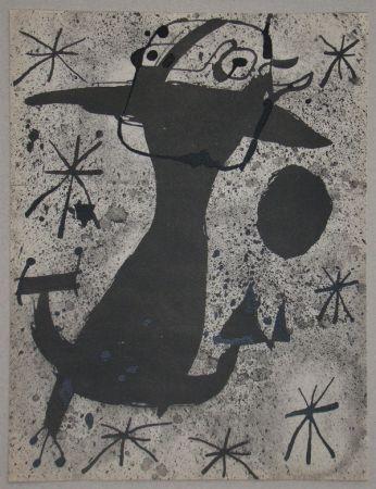ステンシル Miró - Personnage dans la nuit