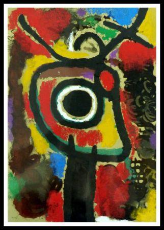 ステンシル Miró (After) - PERSONNAGE ET OISEAU