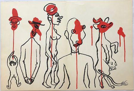 リトグラフ Calder - Personnages I (1966)