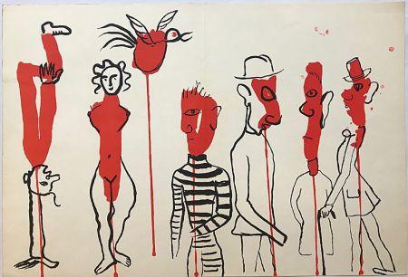 リトグラフ Calder - Personnages II (1966)