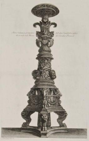 彫版 Piranesi - Perspectiva de candelabro