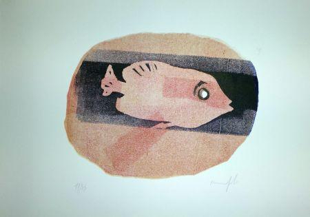 リノリウム彫版 Manfredi - Pesce