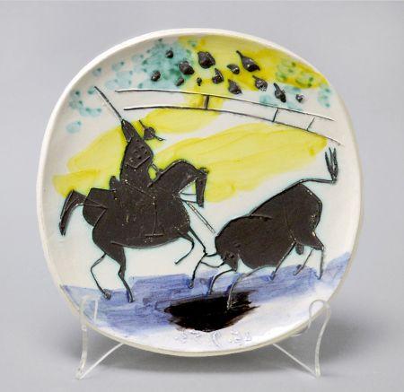 セラミック Picasso - Picador And Bull, 1953
