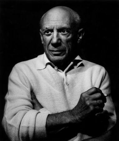 写真 Clergue - Picasso con un cigarro