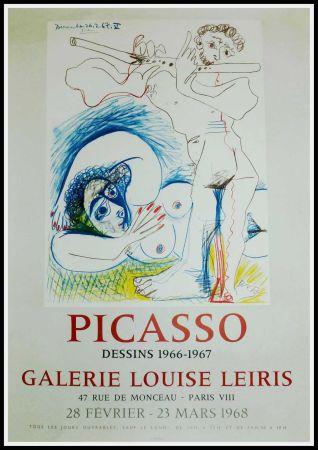 掲示 Picasso - PICASSO, DESSINS 1966-1967 GALERIE LEIRIS 1968